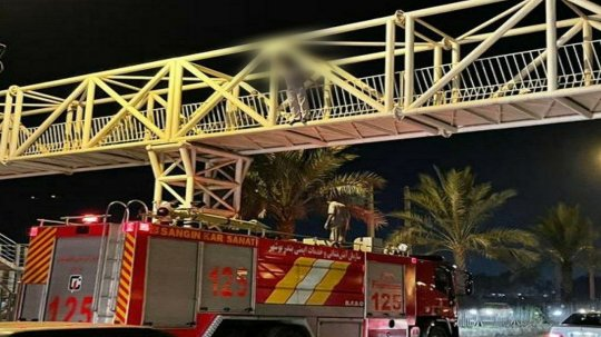 نجات شهروند بوشهری از خودکشی روی پل شهرک نیایش+عکس